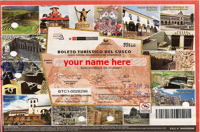 10-daagse Cusco Tourist Ticket